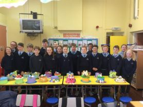 P7 made beautiful Easter Bonnets.